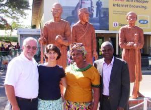 Pastor Matthew Daka and wife Judi with Jeff and Lou Ann
