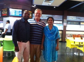 Prabhu Kiran and Swana with Jeff